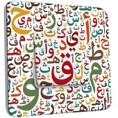 Interrupteur Décoré Poussoir Motif Oriental Ecritures Multicoloré