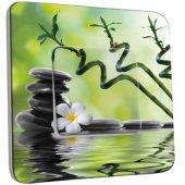 Interrupteur Décoré Poussoir Nature-Pierres,Bambou Fleur 5
