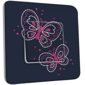 Interrupteur Décoré Poussoir Papillons