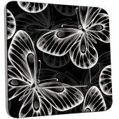 Interrupteur Décoré Poussoir Papillons Black&White 5