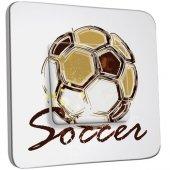 Interrupteur Décoré Poussoir Soccer
