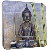 Interrupteur Décoré Poussoir Statue de Bouddha