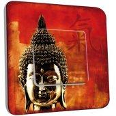 Interrupteur Décoré Poussoir Tête de Bouddha Zoom 1