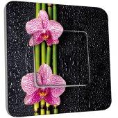 Interrupteur Décoré Simple Bambou orchidée