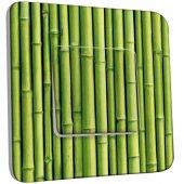 Interrupteur Décoré Simple Bambou Zoom