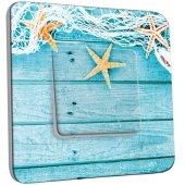 Interrupteur Décoré Simple- Etoiles de mer