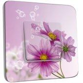 Interrupteur Décoré Simple Fleur violets