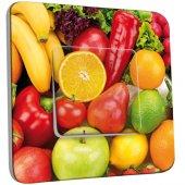 Interrupteur Décoré Simple Fruits et légumes
