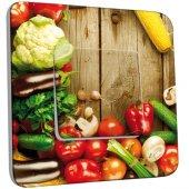 Interrupteur Décoré Simple Fruits et légumes 3