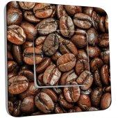 Interrupteur Décoré Simple Graines de Café Zoom