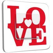 Interrupteur Décoré Simple Love