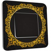 Interrupteur Décoré Simple Motif Oriental Black&Gold 3