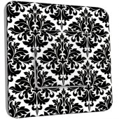 Interrupteur Décoré Simple Motif Oriental Black&White 2