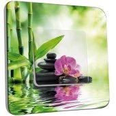 Interrupteur Décoré Simple Nature-Pierre,Bambou,Fleurs 3