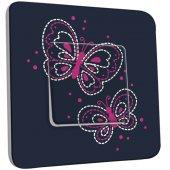 Interrupteur Décoré Simple Papillons