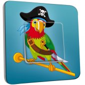 Interrupteur Décoré Simple Perroquet Pirate Enfant