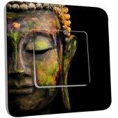 Interrupteur Décoré Simple Tête de Bouddha Peinture