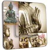Interruptor simple decorado Buda