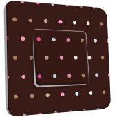 Intrerupator simplu decorate  Buline Colorate Fond Ciocolatiu
