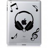 iPad 2 Aufkleber Musik