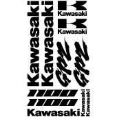 Kawasaki GPZ 1100 Decal Stickers kit