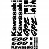 Kawasaki GPZ 600 Aufkleber-Set
