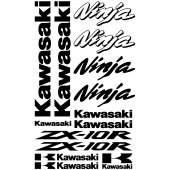 Kawasaki ninja ZX-10r Decal Stickers kit