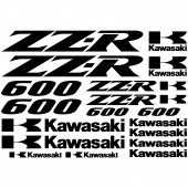 Kawasaki zz-r 600 Decal Stickers kit