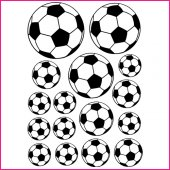 Kit 16 Stickers Ballon de foot