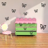 Kit 21 stickers papillon