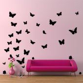 Kit Adesivo Murale 30 farfalle