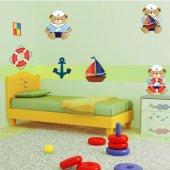 Kit Adesivo Murale bambini 3 orsetti marini