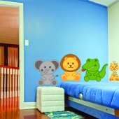 Kit Adesivo Murale bambini 4 animali