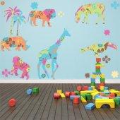 Kit Adesivo Murale bambini 7 animali