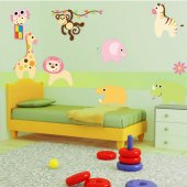 Kit Adesivo Murale bambini 8 animali