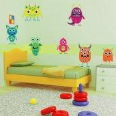 Kit Adesivo Murale bambini 9 mostri