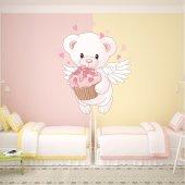 Kit Adesivo Murale bambini orsetto innamorato