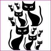 Kit Autocolante decorativo  10 gatos