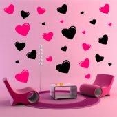 Kit Autocolante decorativo  14 coraçãoes