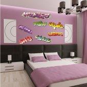 Kit Autocolante decorativo  7 graffitis