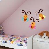 Kit Autocolante decorativo infantil 3 Borboletas