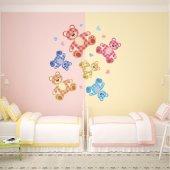 Kit Autocolante decorativo infantil 6 urso