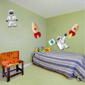 Kit Autocolante decorativo infantil espaço planetas