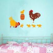 Kit Autocolante decorativo infantil fazenda