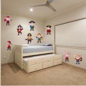 Kit Autocolante decorativo infantil piratas