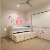 Kit Autocolante decorativo infantil princesa acessóriose