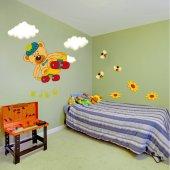 Kit Autocolante decorativo infantil Ursinho