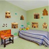 Kit Autocolante decorativo infantil western