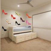 Kit Autocolante decorativo sapatos