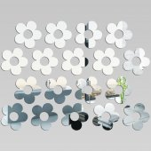 Kit Specchio acrilico Plexiglass fiori